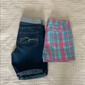 Lot of 2 pair of Justice Shorts. Size 12